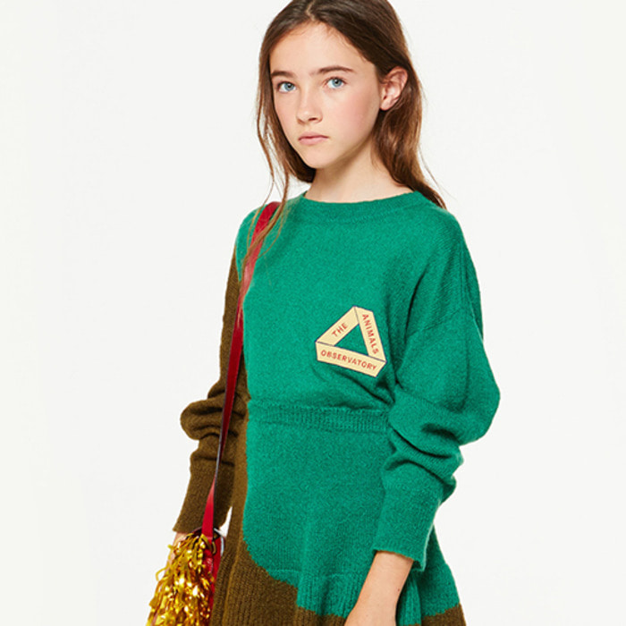 GREEN TRIAN SWEATER