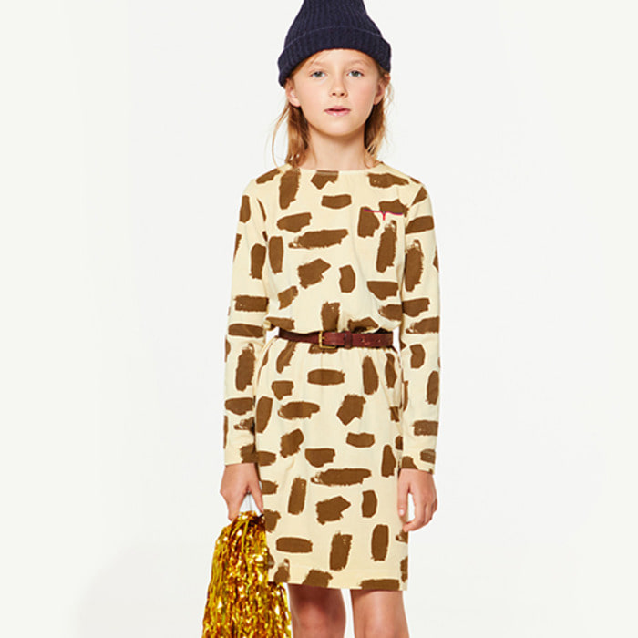 YELLOW LEOPARD DRESS